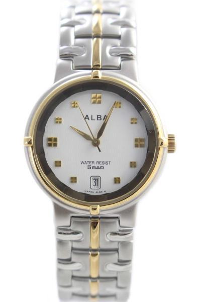 ALBA AXDL78 Jam Tangan Pria - Gold/Silver