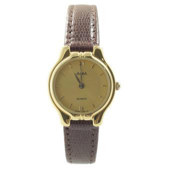 ALBA Jam Tangan Wanita - Gold - Leather Strap - ARYL36