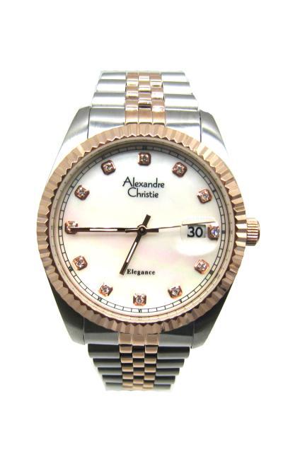 Alexandre Christie AC 8463 Jam Tangan Pria - Silver