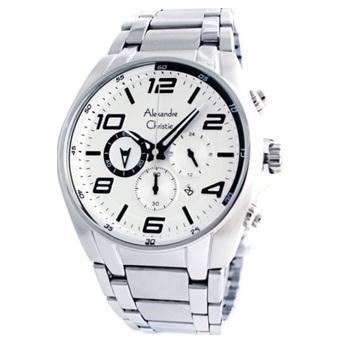 Alexandre Christie Jam Tangan Pria Silver Stainless Steel AC 6344 MSW