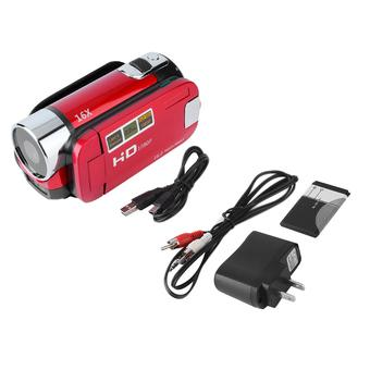 Allwin 2.7'' TFT LCD Full HD 720P Digital Video Camcorder 16x Zoom DV Camera US Plug?red? - Intl