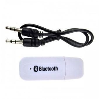 Best CT USB Bluetooth 3.5mm Stereo Audio Music Receiver Adapter For Speaker White
