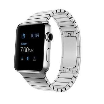 Bluesky Apple Watch Band, Stainless Steel Replacement Smart Watch Band Link Bracelet with Double Button