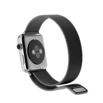 Bluesky Apple Watch Band, with Unique Magnet Lock, 42mm Loop Stainless Steel Bracelet Strap