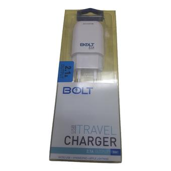 Bolt Travel Charger Output 2.1A Real