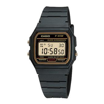 CASIO F-91WG-9QDF Men's Watch Black and Yellow (Intl)
