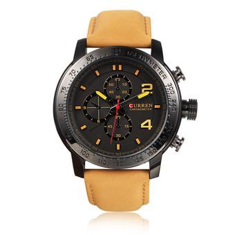 CURREN Men's Casual Military Exercise Analog Quartz Watch (Black)- Intl