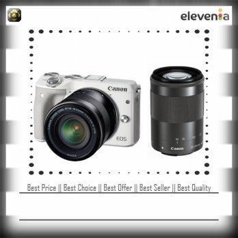 Canon EOS M3 Kit 2 18-55mm f/3.5-5.6 IS STM + 55-200mm f/4.5-6.3 IS STM / White