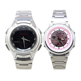 Casio Poptone Lcf 10d 4av Jam Tangan Wanita Abu Abu Stainless Steel Source · Casio AQ 160WD 1B LAW 25D 4A Couple Watches Stainless Steel