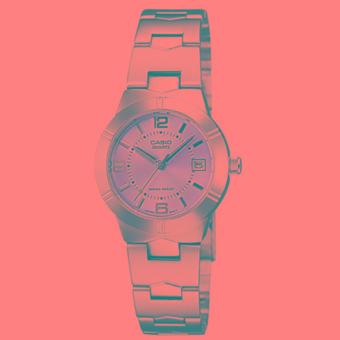 Casio Analog- Jam Tangan Wanita - Pink - Stainless Steel- LTP-1241D-