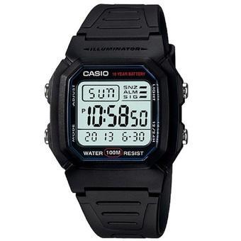 Casio Digital Watch Jam Tangan Pria - Hitam - Strap Karet - W-800H-