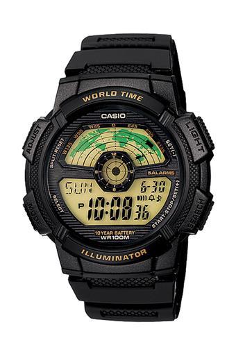 Casio Standard Digital - Jam Tangan Pria - Hitam - Strap Resin - AE-1100W