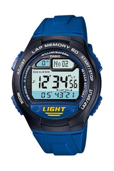 Casio Standard W-734-2AV Jam Tangan Pria Strap Karet / Resin - Blue