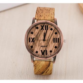Charming Retronew Men Watches Numerals Faux Leather Quartz Casual Relogio Men Hours Clock Watch (Light
