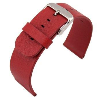 Classic Buckle Genuine Leather Wrist Watchband Strap for iWatch Apple Watch 42mm Red (Intl)