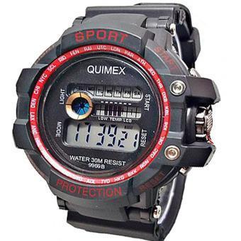 Digital Quimex - Jam Tangan Sport Pria - Strap Karet - QU 81   Hitam- e89b5709a4