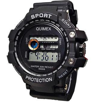 Harga Digital Quimex Jam Tangan Sport - Strap Karet - Hitam - QU81R ... 25b4264b72