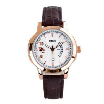 Disney Women's Brown Calendar Leather Band Watch MK005-2 (Intl)