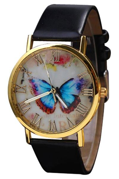 Exclusive Imports Jam Tangan Wanita - Hitam - Starp Leather - Butterfly