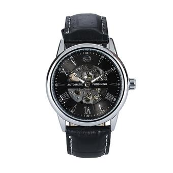 FORSINING Unique Hollow Engraving Skeleton Wristwatch silver (Intl)