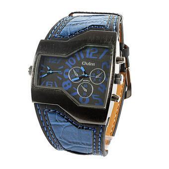 Fashion OULM Russian Army Military Dual Time Sports Mens Wrist Watch Blue  (Intl) 66541b1968