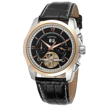 Forsining Men Mechanical Automatic Dress Watch with Gift Box FSG625M3T2 (Black) (Intl)