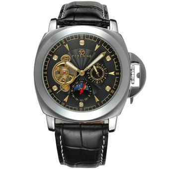 Forsining Men Mechanical Automatic Dress Watch with Gift Box FSG005M3S7 (Black) (Intl)