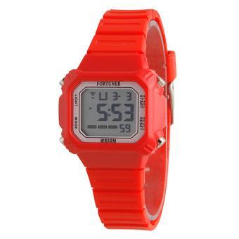 ... MMD48H130ID285DG2057TORH07 Dualtime Jam Tangan Pria Rubber Strap - Orange . Source · Fortuner Digital Jam Tangan Wanita - Tali Karet - Merah - FR881