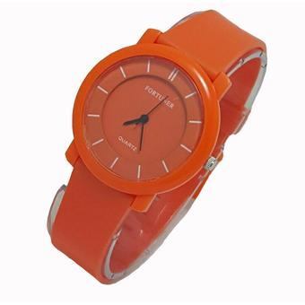 Fortuner FR6232 Candy Orange Jam Tangan Wanita - Analog - Full Rubber