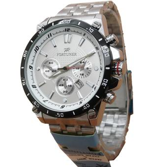 Fortuner Jam Tangan Pria - Strap Stainless Steel - Silver - FR630CH