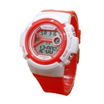 Fortuner Jam Tangan Wanita – Rubber Strap – FR6979G Merah