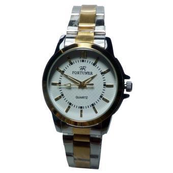 Fortuner Jam Tangan Wanita - Silver-Putih - Stainless Steel - F638
