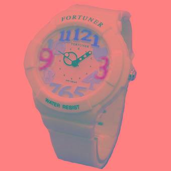 Fortuner Sporty - Jam Tangan Wanita - Rubber Strap - FR J844 Putih