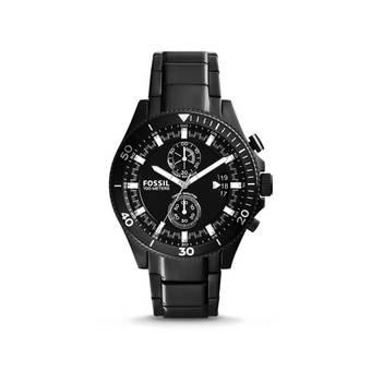 Fossil Jam Tangan Pria - Hitam - Stainless steel- Fossil CH 2936 Chronograph