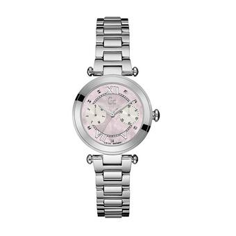 GC Guess Collection Jam Tangan Wanita Silver Pink Stainless Steel Y06001L3