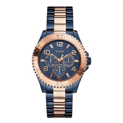 Guess W0231L6 Multifunction - Jam Tangan Wanita - Biru Gold - Stainless steel