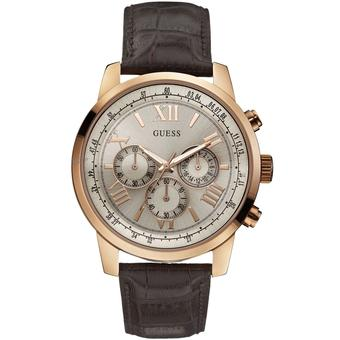 Guess W0380G4 - Jam Tangan Pria - Rosegold-White - Leather