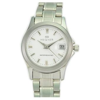 Hegner Fashion Ladies 223L - Stainless Steel - White Dial Silver