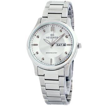 Hegner H627 Tanggal dan Hari Jam Tangan Wanita Stainless Steel - Silver