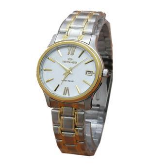 Hegner Jam Tangan Wanita - Silver-Gold - Stainless Steel - H413Sg