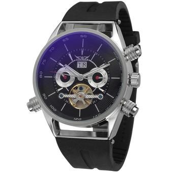 Jargar Men Mechanical Automatic Dress Watch with Gift Box JAG448M3S1 (Black) (Intl)