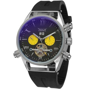 Jargar Men Mechanical Automatic Dress Watch with Gift Box JAG448M3S3 (Black) (Intl)