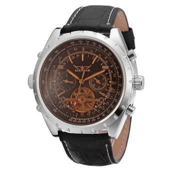 Jargar Men Mechanical Automatic Dress Watch with Gift Box JAG212M3S1 (Black) (Intl)