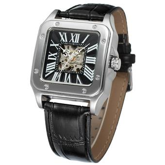 Jargar Men Mechanical Automatic Dress Watch with Gift Box JAG8073M3S1 (Black) (Intl)