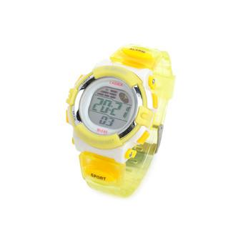 K-SPORT F45 Sport Kid's Rubber Band Quartz Digital Waterproof Wrist Watch 1 x 626(Yellow)
