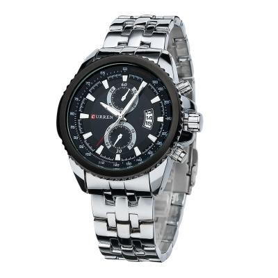 Kamvio Curren 8082 Men's Quartz - Silver/Hitam