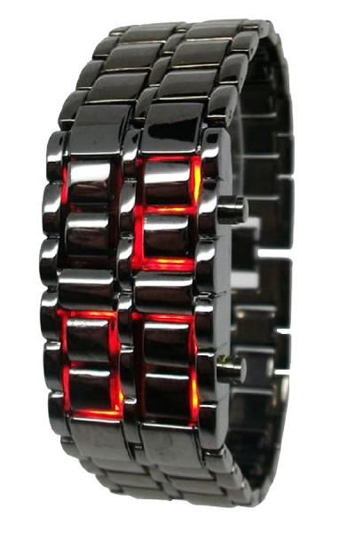 Harga Smart Jam Tangan Black Red LED Tokyo Flash Cowok - Best Seller ... 55a06aea99
