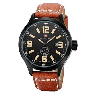 Bonico Jam Tangan Wanita – Body Rose Gold – Black Leather Strap - BNC —RG2943B. Source · Naviforce 9057H Original For Man Dial - Hitam Kuning