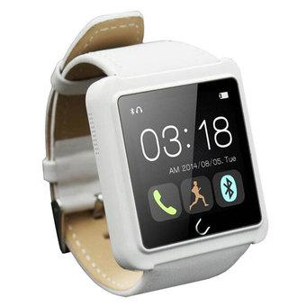 New Upgrade Version U10L Bluetooth Smart Wrist Watch Phone Mate Anti-theft For Andriod /IOS Samsung IPhone HTC Smartphone With Multi-language(White) (Intl)