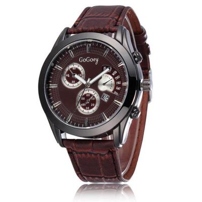 Ormano - Jam Tangan Pria - Coklat - Leather - Brown Observer G-Watch